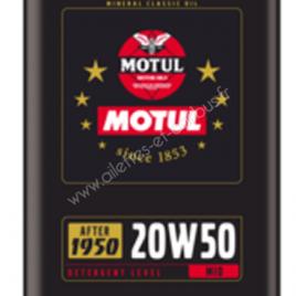HUILE MOTEUR 20W50 SPECIALE ANCIENNES 2Litres BIDON METAL