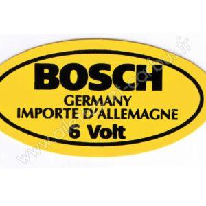 AUTOCOLLANT BOBINE 6V BOSCH COX COMBI