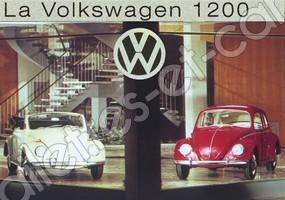 CARTE POSTALE VW COX 1200 VINTAGE