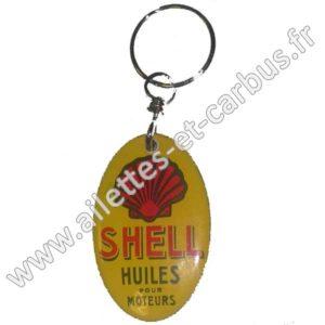 Porte-clefs émaillé 35x55mm SHELL