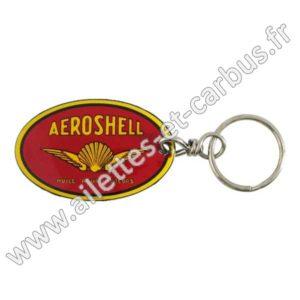 Porte-clefs émaillé 35x55mm AEROSHELL