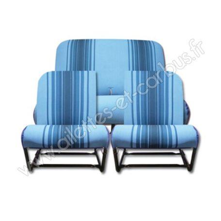 Housses bleu rayé 2cv Dyane asym