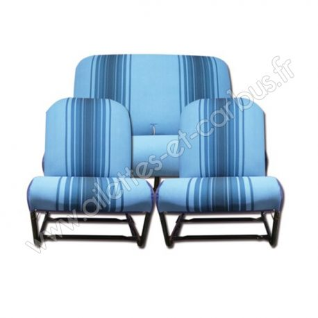 Housses bleu rayé 2cv Dyane sym