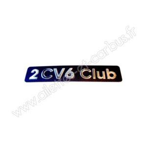 Monogramme 2cv6 Club