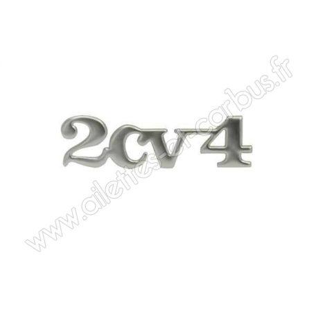 Monogramme 2cv4 chromé