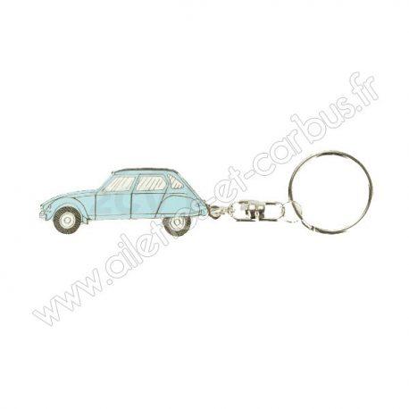 Porte clés Citroën Dyane Bleue