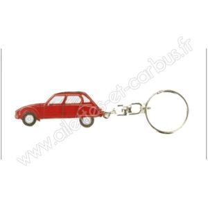 Porte clés Citroën Dyane rouge