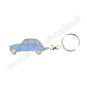 Porte clés Citroën 2cv bleue