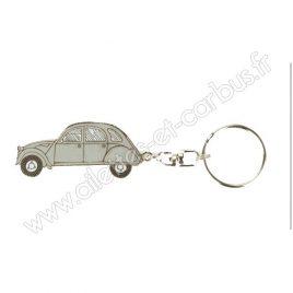 Porte clés Citroën 2cv grise