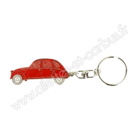 Porte clés Citroën 2cv rouge