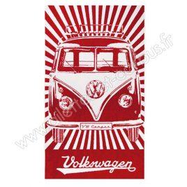 Serviette plage VW combi Rouge