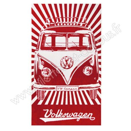 Serviette plage VW combi Rouge