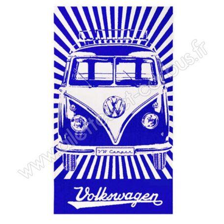 Serviette plage VW combi Bleue