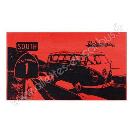 Serviette plage VW combi south Rouge