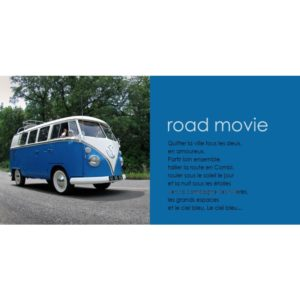 CARTE POSTALE VW COMBI ROAD VINTAGE