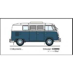 CARTE POSTALE VW SPLIT WESTFALIA VINTAGE